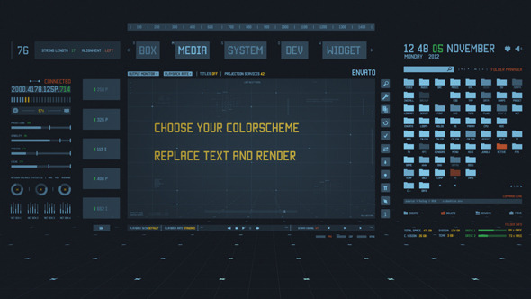 VideoHive Holographics Interface Scene 3366451