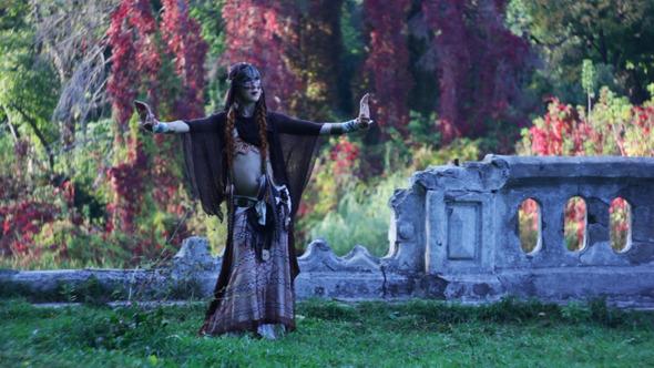 VideoHive Mystical Tribal Woman Dancing 3414441