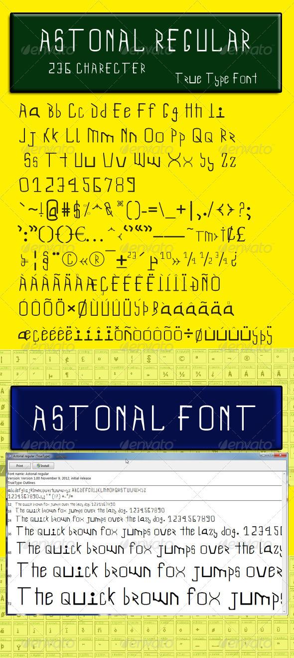GraphicRiver Astonal Regular 3416406