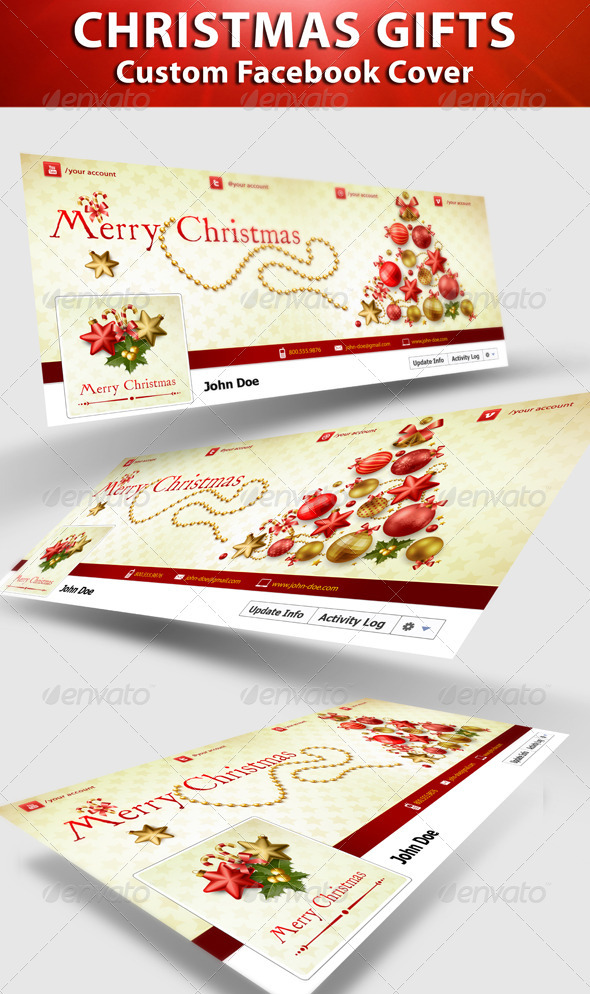 GraphicRiver Christmas FB Timeline Cover 3419116