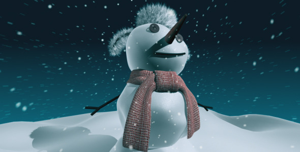 VideoHive Snowman Greetings 3424329