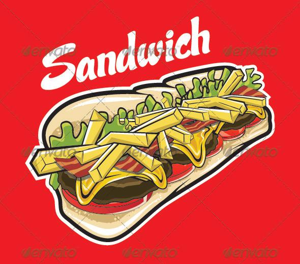 GraphicRiver Sandwich 3398727