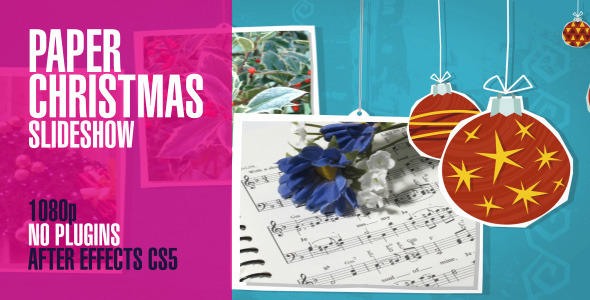 VideoHive Paper Christmas Slideshow Pan 3426857