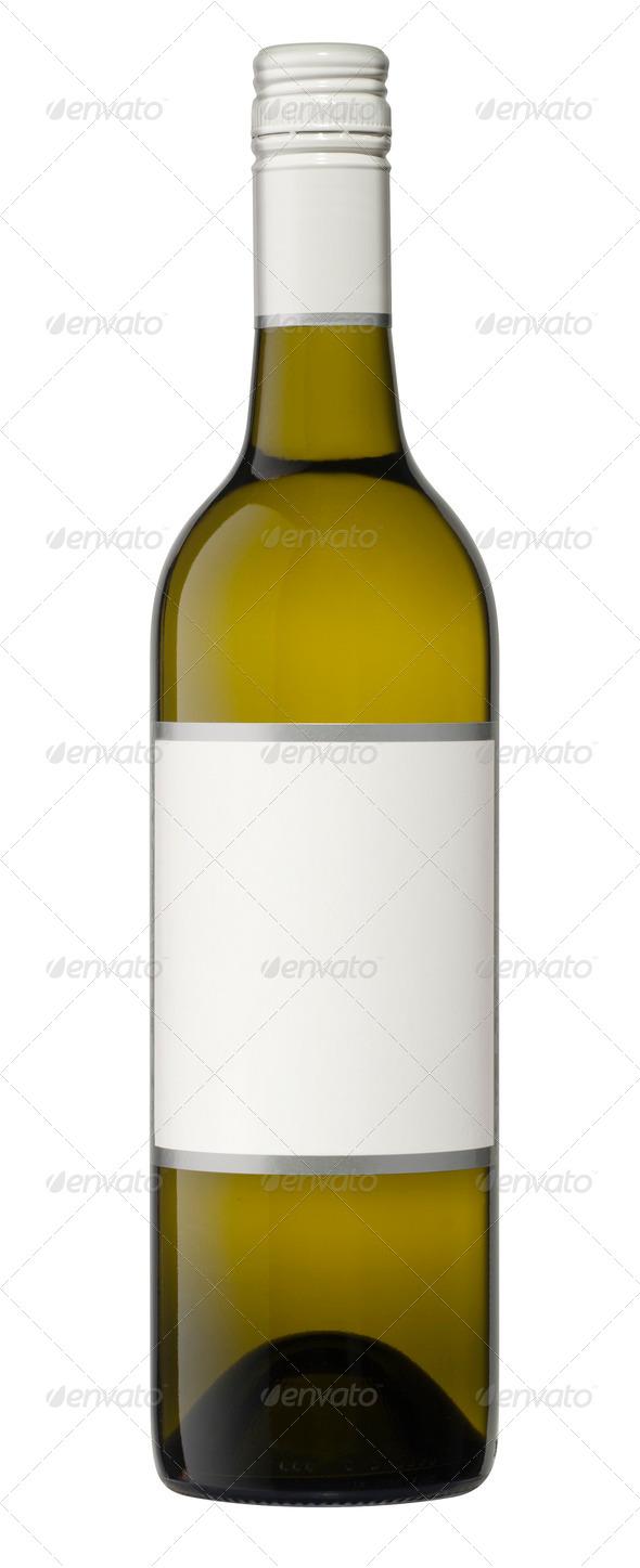 Isolated Blank Wine Bottle Stock Photo by hddigital | PhotoDune