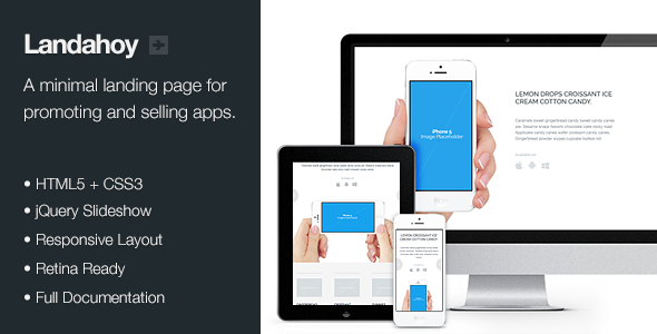 ThemeForest Landahoy Responsive & Retina Landing Page Marketing Landing Pages 3427567