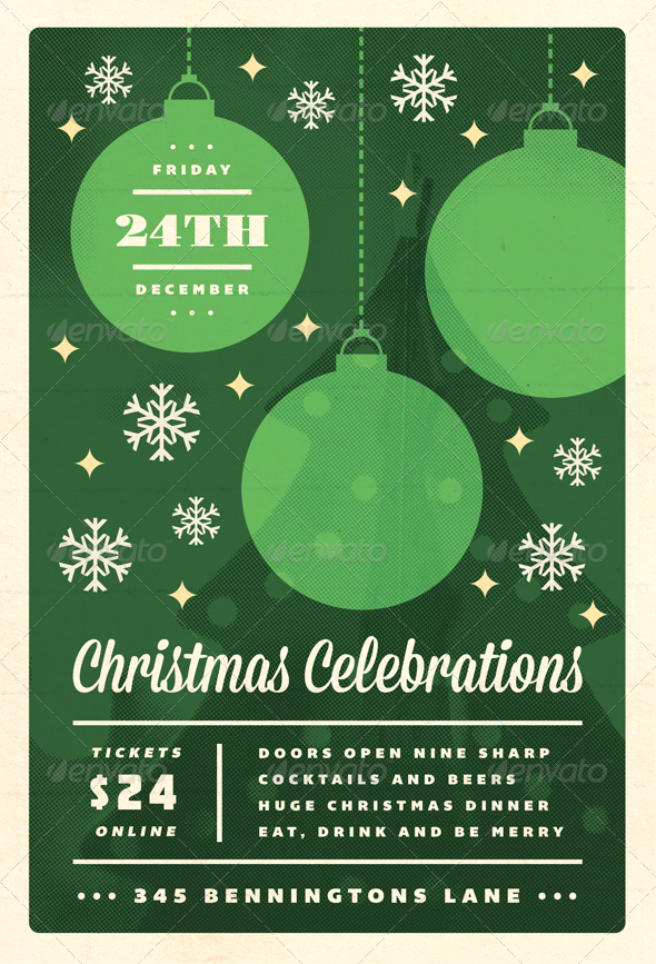 GraphicRiver Celebrations Christmas Flyer Template 3436868