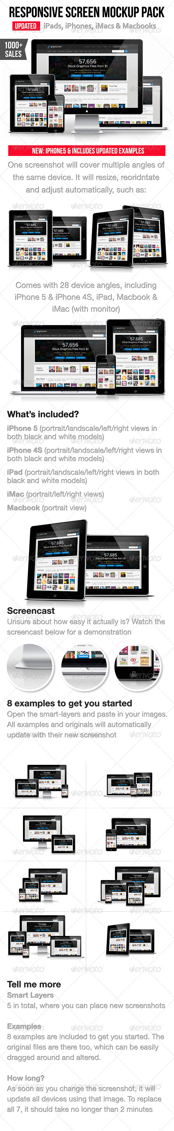 GraphicRiver Responsive Screen Mockup Pack 2629618
