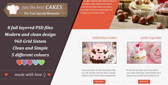 ThemeForest Just Cakes / PSD Theme PSD Templates Retail 3362254
