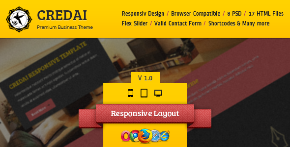 ThemeForest Credai Business Responsive HTML5 Template Site Templates Corporate Business 3288529