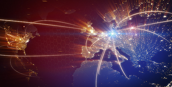 VideoHive World Map Animation 3426970