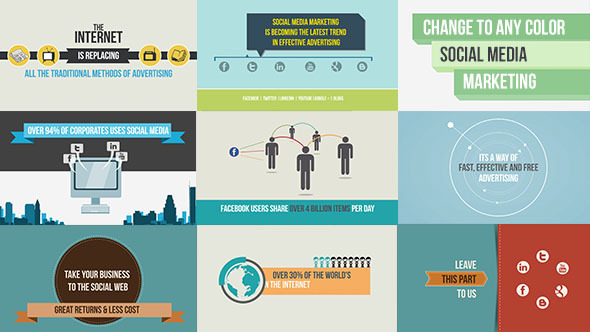 VideoHive Social Media Marketing Intro 3445620