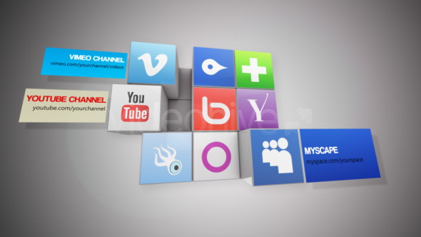 VideoHive Rubik's Cube Social Logos 3389497