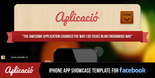 ThemeForest Aplicacio iPhone App Showcase Facebook Template 3458343