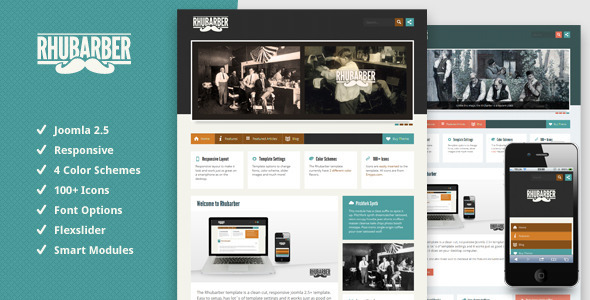 ThemeForest Rhubarber Responsive Joomla Template 2624356