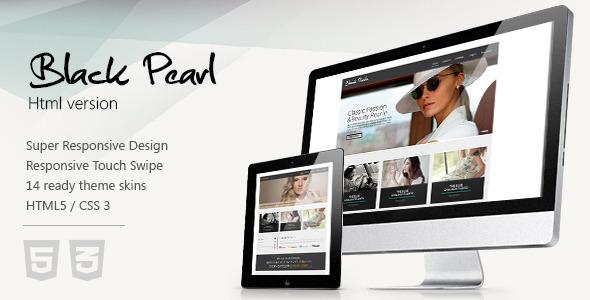 ThemeForest Black Pearl Responsive HTML Template 3459089