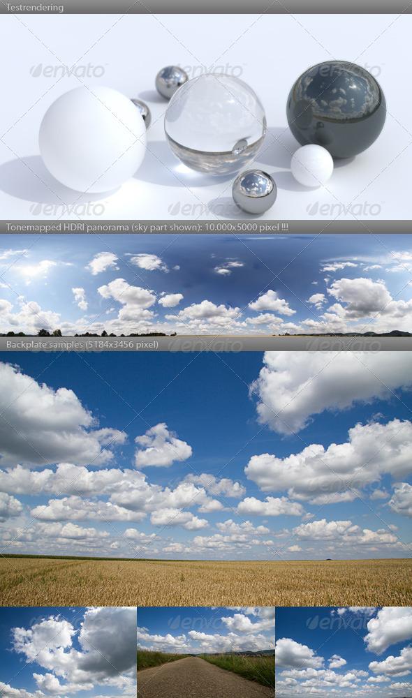 3DOcean HDRI spherical sky panorama 1442- cloudy sky 428141
