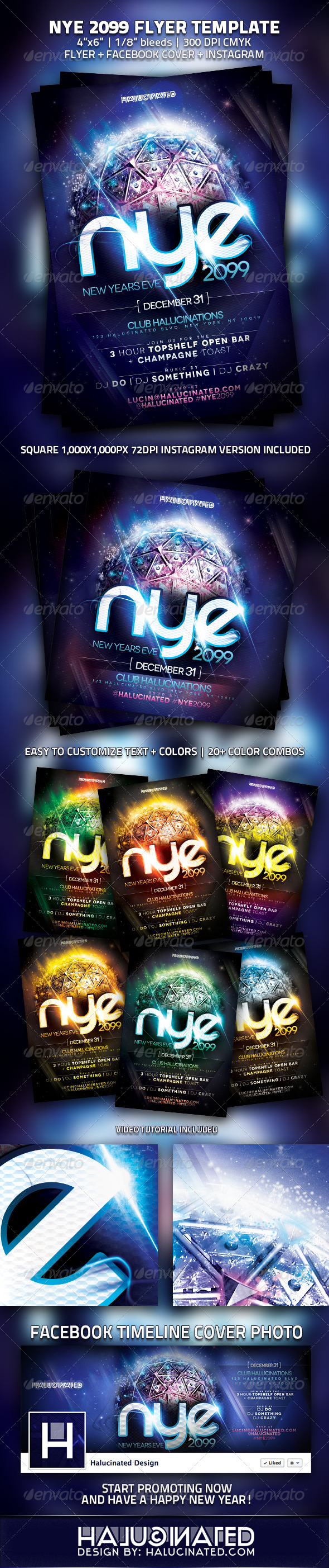 GraphicRiver NYE 2099 Party Flyer Template 3468012