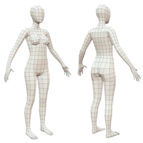 Az Home Design Realistic Interior Design Games For Adults: Realistic Adult Female Base Mesh - 3D Models
