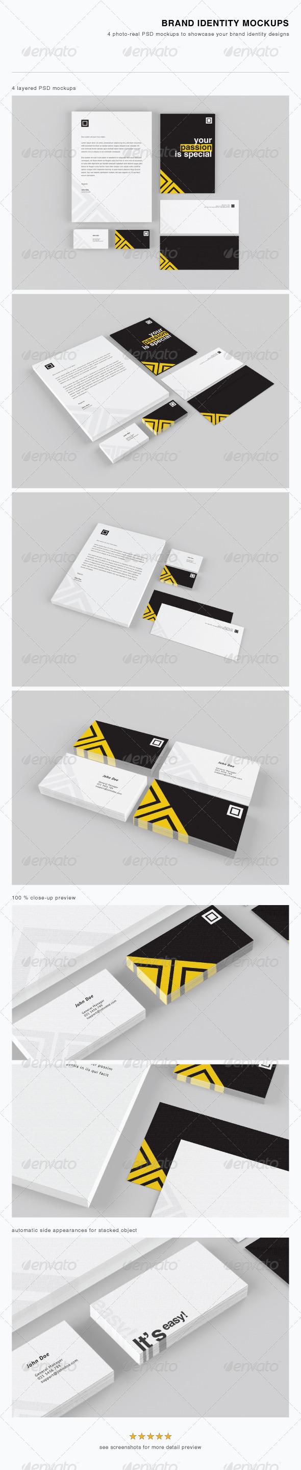 GraphicRiver Brand Identity Mockups 3208794