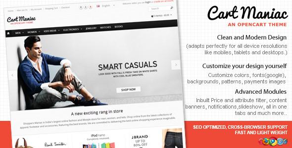 ThemeForest Cart Maniac HTML5 Responsive Theme 3471393