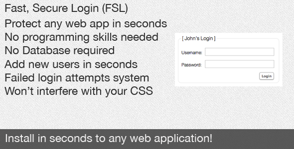 CodeCanyon Fast Secure Login FSL Quick Login Integration 372564