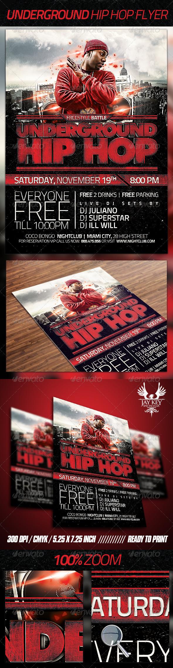 GraphicRiver Underground Hip Hop Flyer 3475062