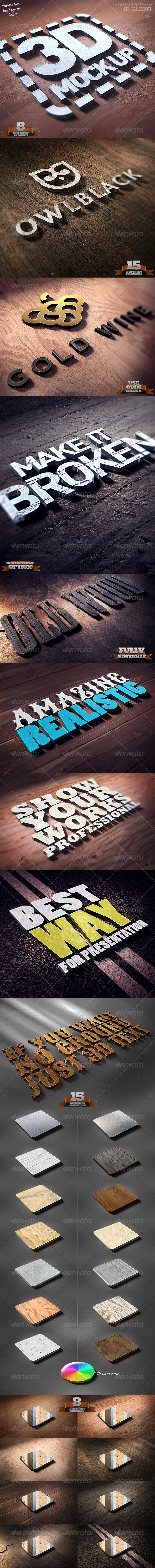 GraphicRiver Photorealistic 3D Mock Up 3476402