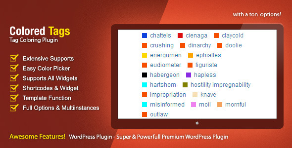 CodeCanyon Colored Tags WordPress Premium Plugin 662770