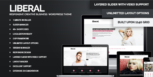 ThemeForest Liberal WordPress Responsive Business Theme WordPress Creative 3480221