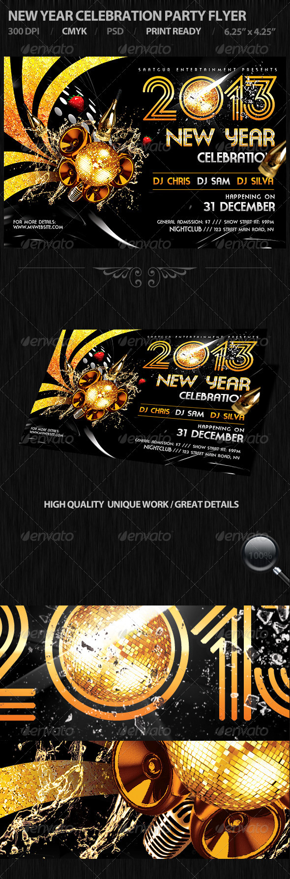 GraphicRiver New Year Celebration Party Flyer 3482782