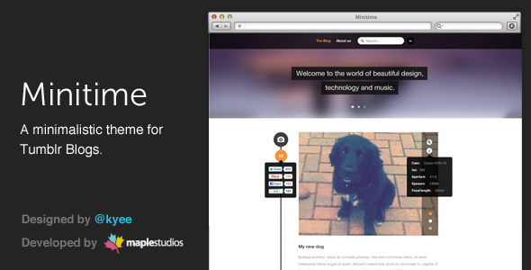 ThemeForest Minitime A minimalist theme for Tumblr blogs 3471363
