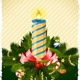 Grungy Christmas Card with Decorations - GraphicRiver Item for Sale
