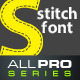 Stitched UP Font - GraphicRiver Item for Sale