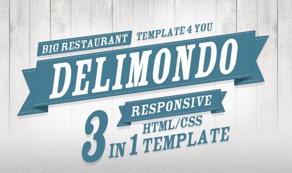 ThemeForest Delimondo Fully Responsive HTML 3 Styles Site Templates Entertainment Restaurants & Cafes 3452485