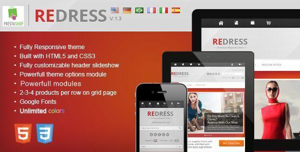 ThemeForest Redress responsive prestashop theme eCommerce PrestaShop 3488413