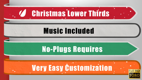 VideoHive Christmas Lower Thirds 3488682