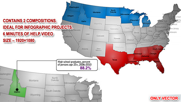 VideoHive USA Map Highlighter 3457412