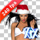 Miss Santa 240fps - VideoHive Item for Sale