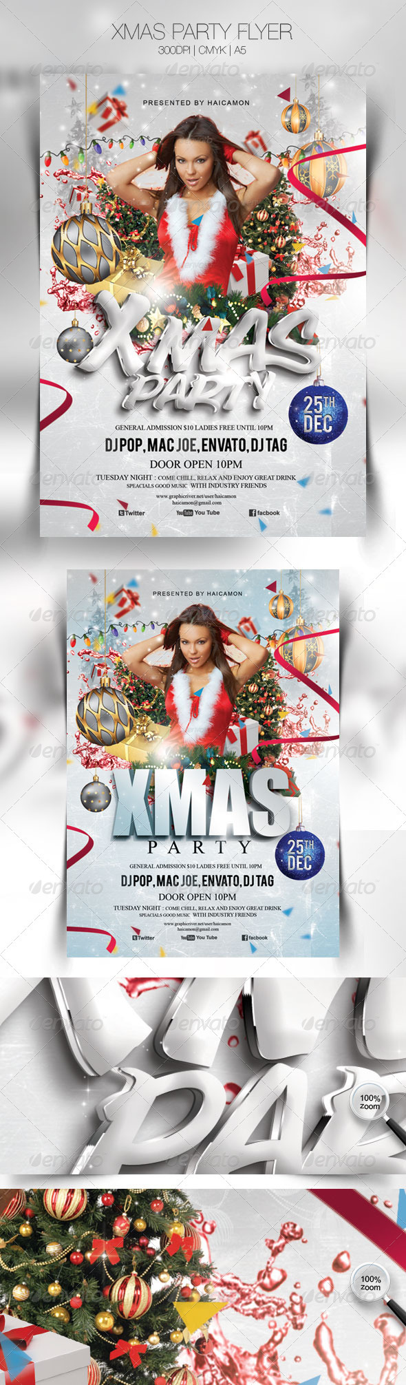 GraphicRiver Xmas Party Flyer Template 3495690