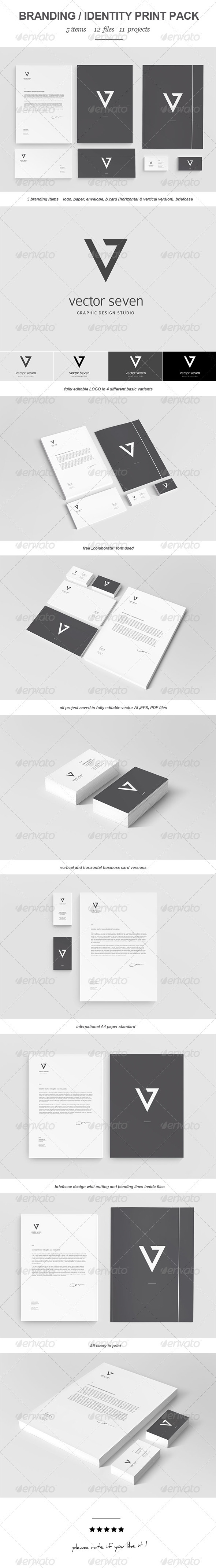 GraphicRiver Seven Vector Branding Print Pack 3497776