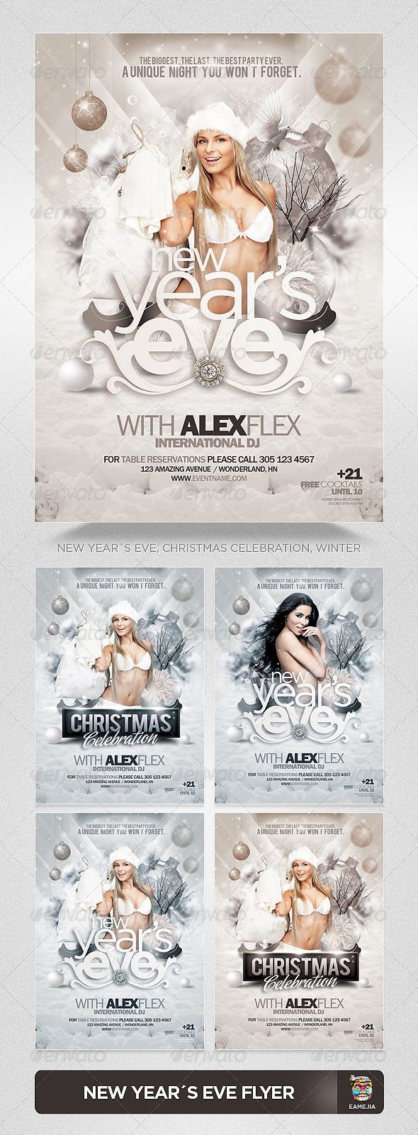 GraphicRiver Christmas New Year s Eve Flyer Template 3450533