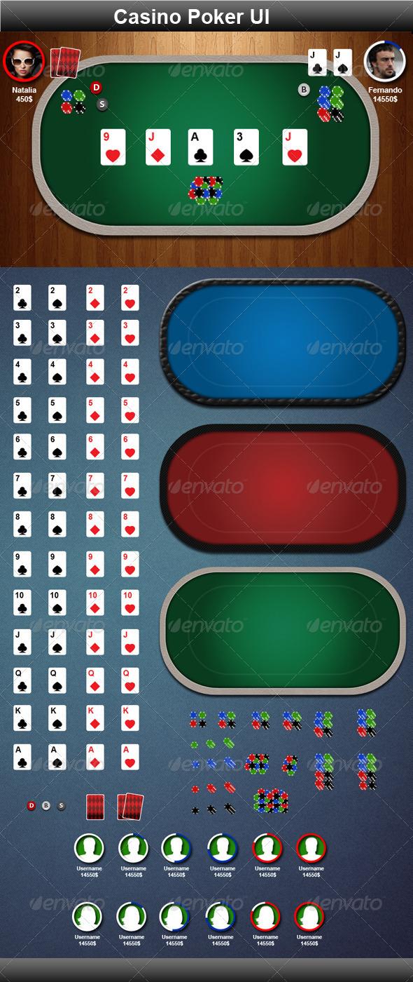 GraphicRiver Casino Poker Game Elements 3471366
