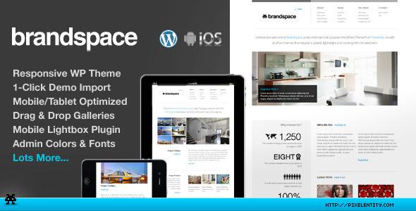 ThemeForest Brandspace Responsive Portfolio & Business Theme WordPress Corporate 3502985