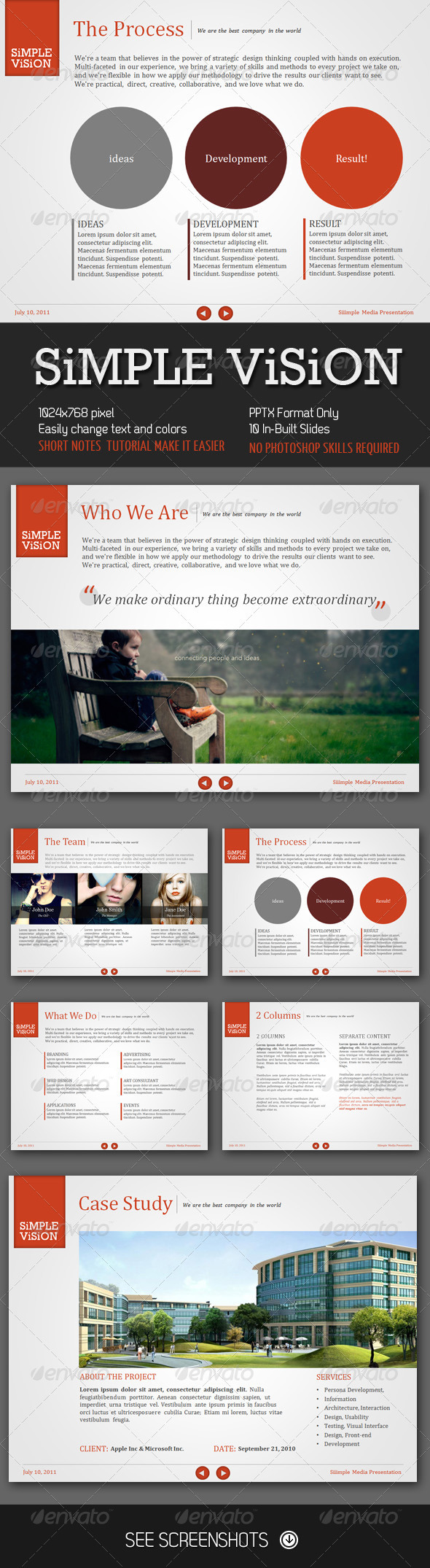 Graphic River Simple Vision PowerPoint Presentation Presentation Templates -  Powerpoint Templates  Creative 376132