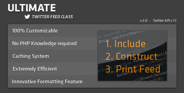 CodeCanyon Ultimate Twitter Feed Class 462029