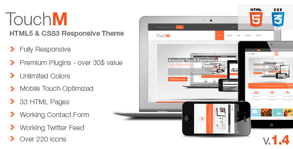 ThemeForest TouchM Premium HTML5 Multipurpose Responsive Site Templates Corporate 3362630