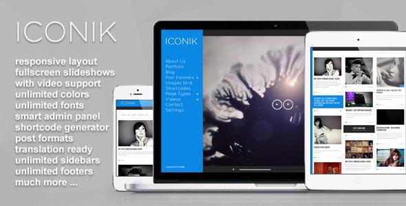 ThemeForest Iconik Full Experience Wordpress Theme WordPress Creative 3475987