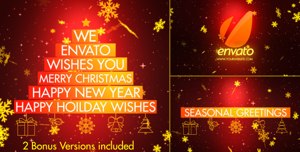 VideoHive Christmas Wishes-Typography 3517267