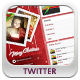 Christmas Twitter Background - GraphicRiver Item for Sale