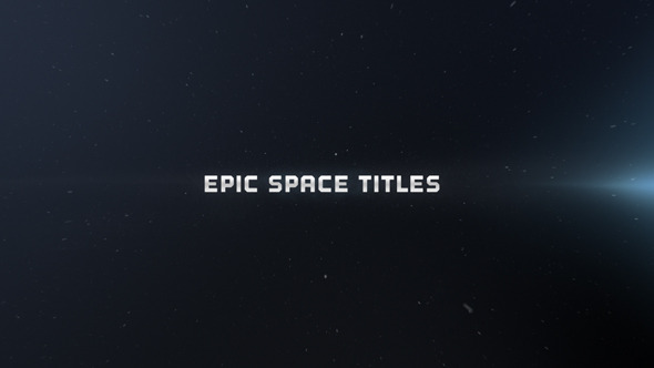 VideoHive Epic Space Titles 3520949